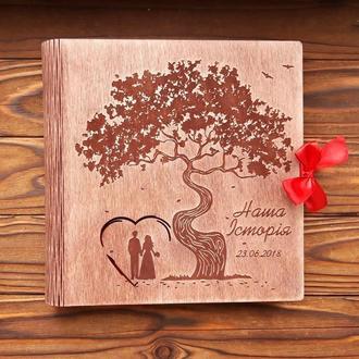 Фотоальбом из дерева