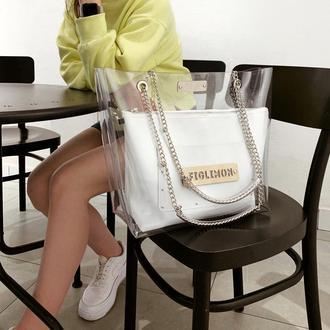 Стильная сумка FIGLIMON | белая
