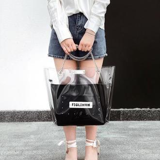 Стильная женская сумка от FIGLIMON в классическом черном цвете
