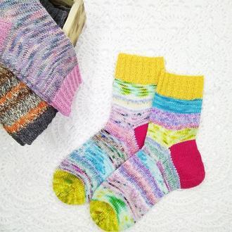 Вязаные носки Колорит (scrappy socks) 38-40 р-р