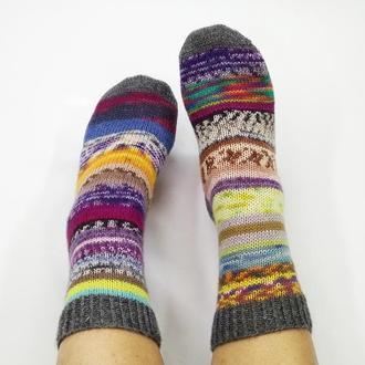 Вязаные носки Колорит (р-р 38-40)