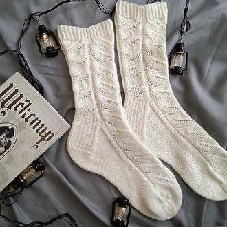 Вязаные носки Weave (носочная пряжа молочного цвета 38-40 )