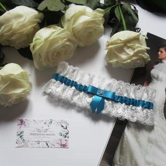 Подвязка для невесты узкая