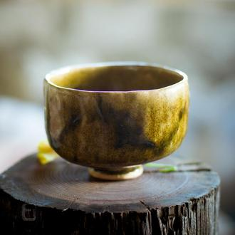 Work no. 346W — BronzBrow.A6.L, teabowl in japanese style
