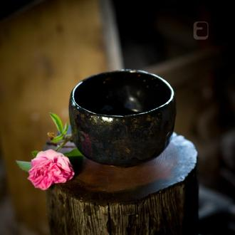 """Work no. 349 W — chawan """"BlaBlu.Ais6.L"""", teabowl in japanese style"""
