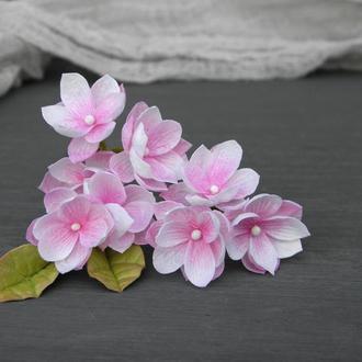 Шпильки с маленькими розовыми цветами, Шпильки в прическу невесте