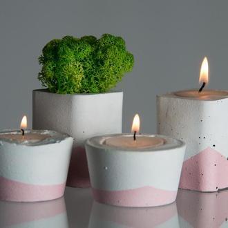 """Подарунковий набір """"Біла пастель"""", рожевий"""