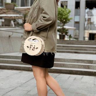 Женская стильная сумочка FIGLIMON miniature   бежевая