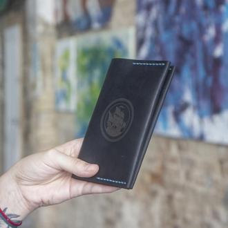 Винтажная Обложка для Паспорта (Итальянская кожа) с отделениями для карт (Докхолдер)