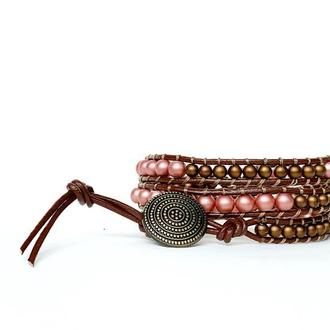 Спиральный браслет чан лу chan luu из бусин. из бусин