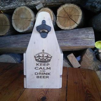 Ящик для пива из натурального дерева