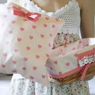 Набор для детской ′Розовые сердечки′