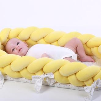 Кокон косичка для новорожденного