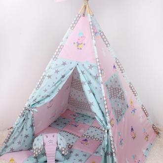 Детская палатка-вигвам со Свинкой Пеппой 125х125х170 см