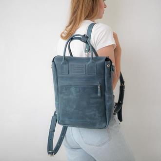 Рюкзак унисекс, городской рюкзак, сумка-рюкзак, рюкзак из кожи FOX