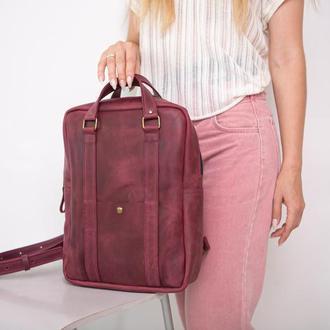Рюкзак из кожи унисекс JP, шкіряний рюкзак ручної роботи