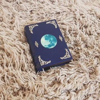 кожаный блокнот а6 сияющая луна,кожа