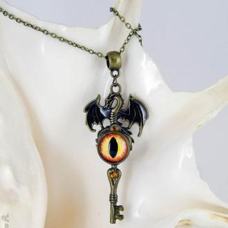Дракон - кулон ключ в стиле фэнтези (под заказ сентябрь)
