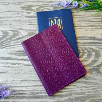 Обложка на паспорт фиолетовые восточные узоры
