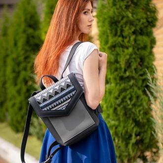 Рюкзак «Geometric Etno blue »