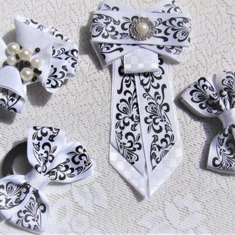 БАНТ и Брошь- галстук - комплект на 1 сентября