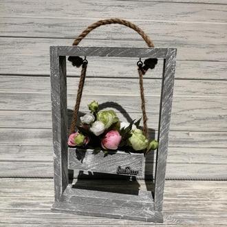 Рамка-качель для цветов