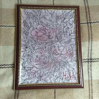 Графическая картина розы