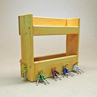 Ключница деревянная Шильён карри