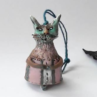 Колокольчик Кошка интерьерный сувенир