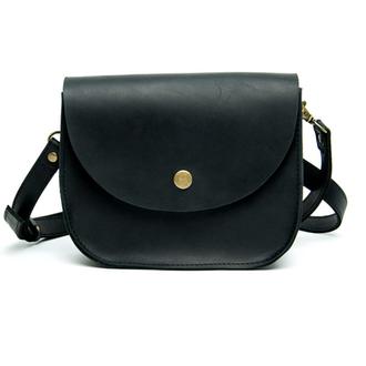Женская мини сумка из кожи Goose™ G0023 черная (ручная работа)