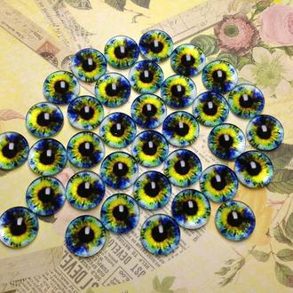 Глаза-кабошоны 14 мм №64