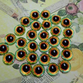 Глаза-кабошоны 14 мм №68