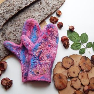 Варіжки рукавички валяні