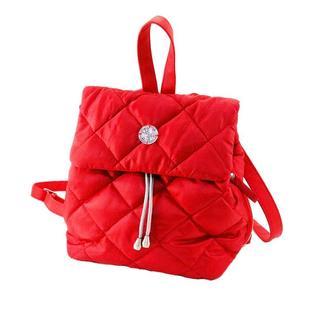 Рюкзак стёганый маленький красный