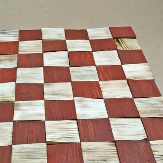 """Панно деревянное """"3D плитка 80"""" бенгала-коралл"""