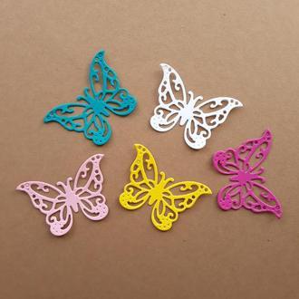 Картонная вырубка бабочка 6
