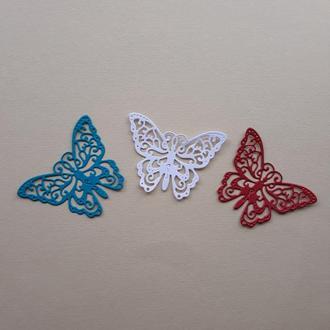 Картонная вырубка бабочка 4