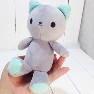 Мягкая игрушка котенок Малыш Айси 21см серый
