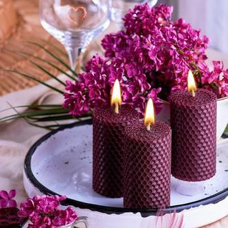 Свечи из вощины веганское кошерное  мыло подарочный набор Натуральные свечки из пчелинного воска