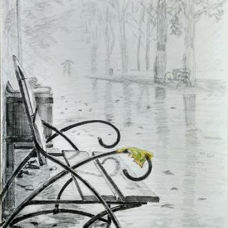Рисунок карандашом Осень