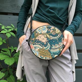 Маленькая женская сумка кроссбоди, Круглая сумка через плечо