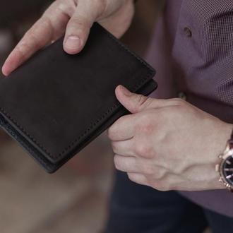 Холдер для документов, мужское портмоне для автодокументов_черное