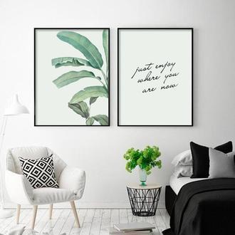 Графический постер Пальмовые листья
