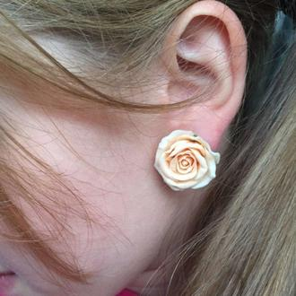 Сережки пуссеты Розы