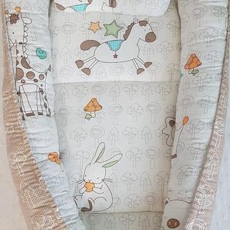 Набор в кроватку: кокон- гнездышко и плед