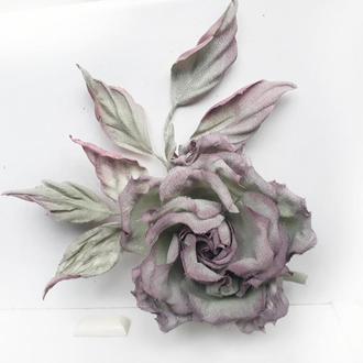 Брошь заколка роза ′Мauve′