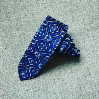 """Краватка """"Україна в синьо-жовтих кольорах"""", ширина 6 див."""