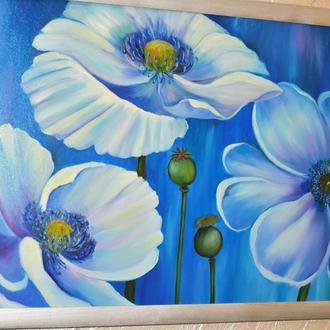 Живопись Цветы, 40х60см
