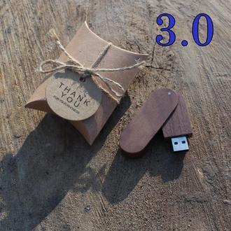 """Флешка """"Швейцарський ніж"""" Горіх на 32Gb (3.0) з лазерним гравіюванням + ПОДАРУНОК"""