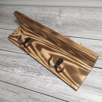 Декор для прихожей, оригинальная вешалка с полочкой